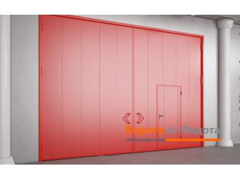 Распашные противопожарные ворота с классом огнестойкости EI90, EI120