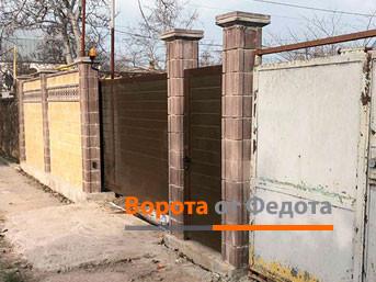 Заводские откатные ворота ДорХан в Гвардейском