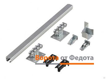 Система роликов и направляющих для откатных ворот весом до 500 кг