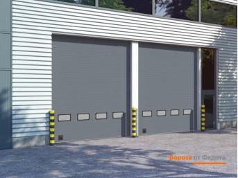 Промышленные секционные ворота DoorHan из стальных сэндвич-панелей