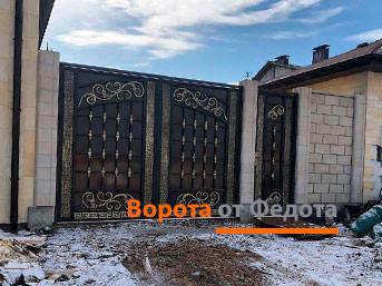 Распашные ворота в частном секторе, Симферополь