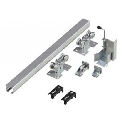 Система роликов и направляющих для откатных ворот весом до 600 кг