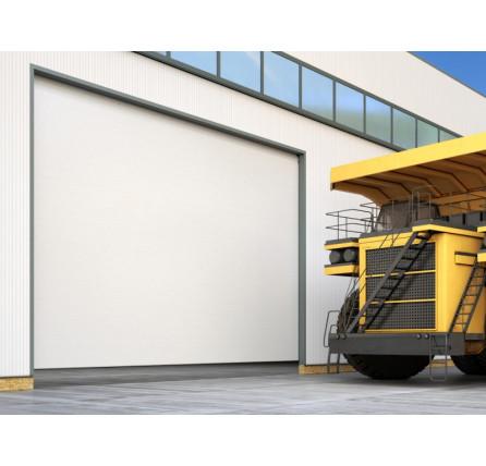 Промышленные секционные ворота Doorhan из алюминиевых сэндвич-панелей с торсионным механизмом